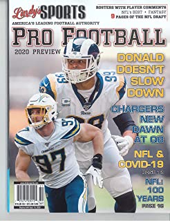 LINDY'S SPORTS PRO FOOTBALL MAGAZINE – 2020 PREVIEW – NFL & COVID-19