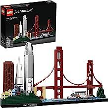 LEGO Architecture Skyline Collection 21043 San Francisco Building Kit Includes Alcatraz Model, Golden Gate Bridge and Othe...