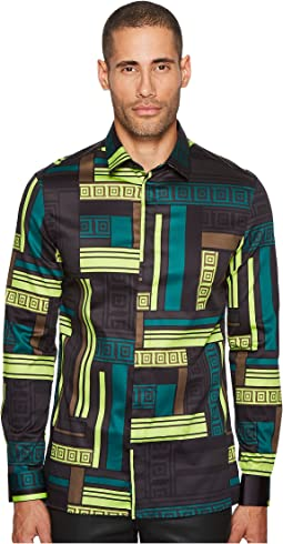 Versace Collection - Geometric Print Button Down
