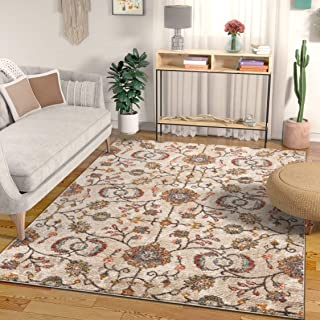 Well Woven Ensley Boho Persian Vintage Beige & Blush Pink Multicolor Area Rug 5x7 (5'3