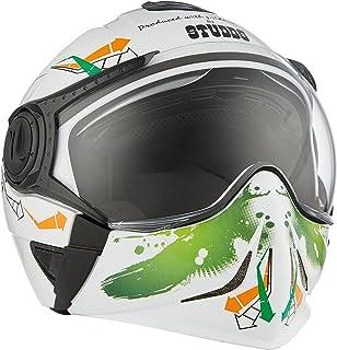 Studds Full Face Helmet Downtown D2 (White N10, M)