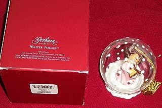 Gorham Winter Follies Angel Crystal Ball Ornament NEW in Box