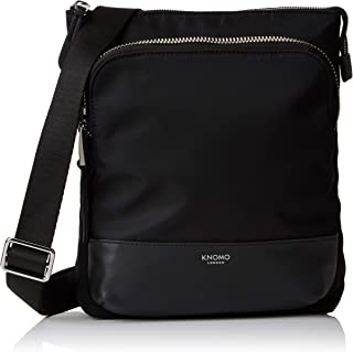 "Knomo Mayfair Capsule Carrington, 10"" Mini Cross-Body Bag, with Device Protection, RFID Pocket and KNOMO ID, Black"