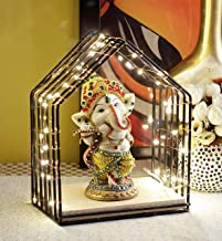 TIED RIBBONS Ganesha Idol Statue Figurine Showpiece with Temple and LED Light - Lightning Decor Items for Home