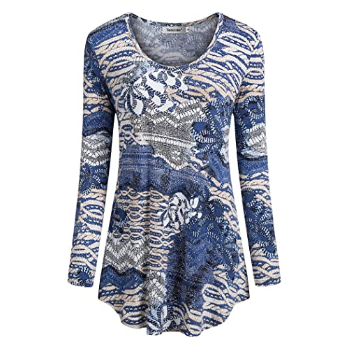 Misses Long Sleeve Tops And Blouses Amazon Com