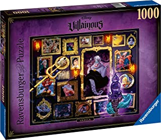 Ravensburger Disney Villainous Ursula 1000 Piece Jigsaw Puzzle for Adults – Every Piece is Unique, Softclick Technology Means Pieces Fit Together Perfectly