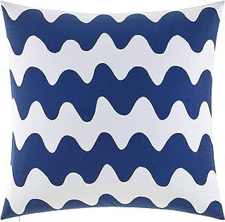 Marimekko Pikku Lokki Square Pillow, 26 x 26, Blue