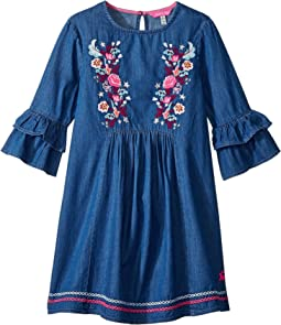 Applique Frill Dress (Toddler/Little Kids/Big Kids)