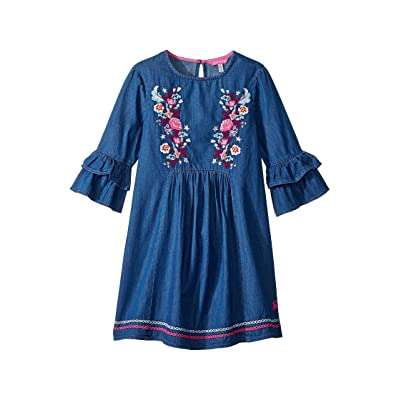Joules Kids Applique Frill Dress (Toddler/Little Kids/Big Kids) (Chambray) Girl