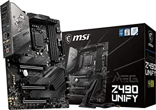 MSI - MEG Z490 Unify - Placa Base Enthusiast Gaming (10th Gen Intel Core, LGA 1200 Socket, SLI/CF, Triple Ranura M.2, USB 3.2 Gen 2x2, Wi-Fi 6)