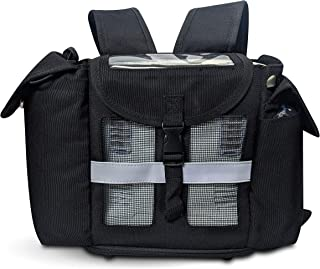 O2TOTES Lightweight Carrier for Oxygo and Inogen One G3 Oxygen Concentrator, Portable Oxygen Backpack with Adjustable Straps & Carry Handle, Black