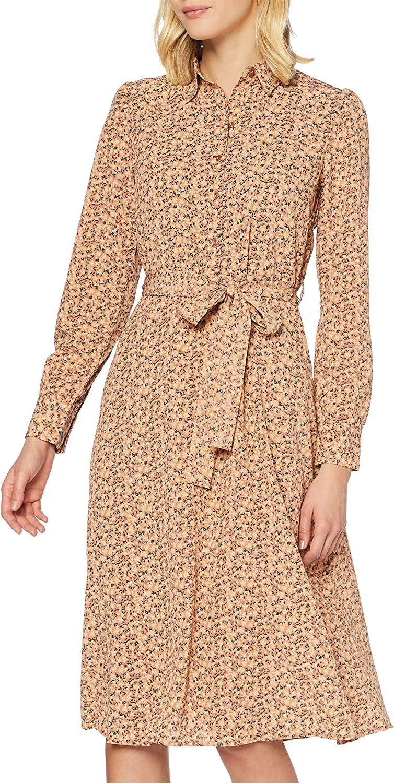 PIECES Pcsapril LS Midi Dress BF Vestito Donna