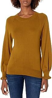 Lark & Ro Jersey de Manga Larga de Cachemira sintética con Cuello Redondo Suéter para Mujer
