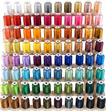 New brothread 80 Spools Polyester Embroidery Machine Thread Kit 500M (550Y) Each Spool - Colors Compatible with Janome and...