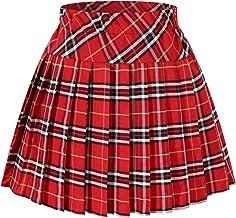 Genetic Women`s Double Layer Elasticated Pleated Skirt (M, Black)