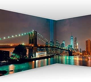 murando Fotomurales Nueva York 550x250 cm XXL Papel de esquina Papel pintado tejido no tejido Decoración de Pared decorativos Murales moderna de Diseno Ciudad City Panorama d-A-0035-a-a