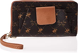 Beverly Hills Polo Club WB192ZVaBN Wristlet for Women - Leather, Brown