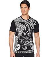 Versace Collection - Floral Frame Print T-Shirt
