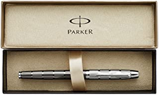 Parker IM Premium Twin Metal Chiseled, Rollerball Pen with Fine Black refill (S0908600)