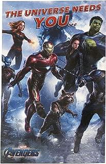 Avengers Birthday Card - Ideal Gift Card for Him - Avengers Endgame - Avengers Featuring Iron Man, Captain Marvel, Hulk, Thor, Captain America, Ant Man, Thanos - Marvel