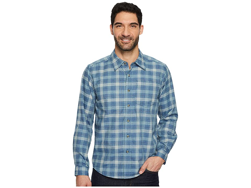 ExOfficio Okanagan Macro Check Long Sleeve Shirt (Blue Lake) Men