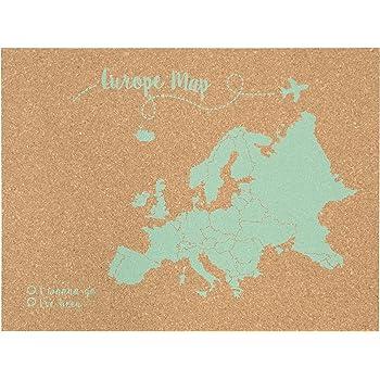 Decowood - Mapa de Corcho Europa, Grande, para Marcar Tus Viajes y ...