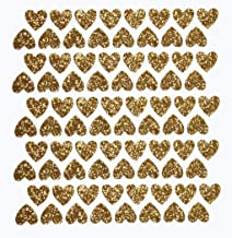 Best mini gold heart stickers Reviews