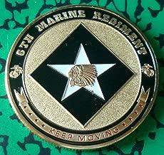 USMC Marine Corps 6th Marine Regiment Military Colorized Challenge Art Coin