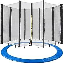 Arebos Trampolin Randabdeckung und Netz / 244, 305, 366, 396, 430, 460 und 490 cm/für 6 und 8 Netzstangen