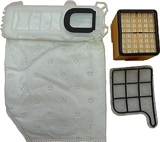 RETYLY 5 Bolsas de Aspiradora 2 Filtros 1 Piedras Perfumadas Adecuado para El Aspirador Vorwerk Kobold 135 136