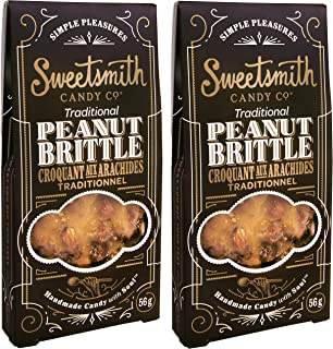 Sweetsmith Candy Co. Traditional Peanut Brittle – Handmade, Gluten-Free, Egg-Free, Soy-Free, Vegan and Dairy-Free (Traditional, 2 Pack)