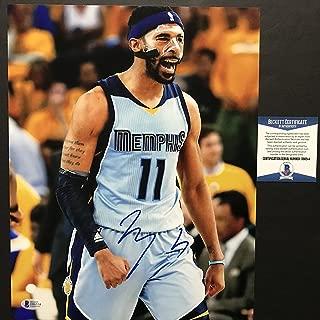 Autographed/Signed Mike Conley Jr. Memphis Grizzlies 11x14 Basketball Photo Beckett BAS COA