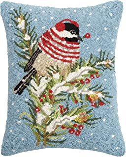 Mary Lake Thompson Winter Chickadee Hook, 16x20 Holiday Pillow
