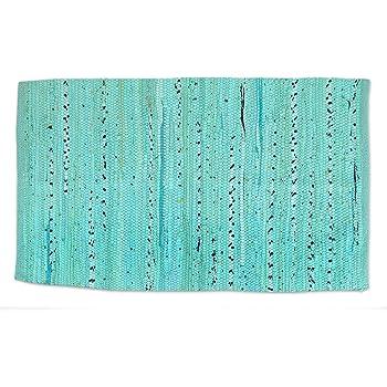 DII Chindi Collection Rag Rug, Handmade, Colors May Vary, 20x31.5, Aqua