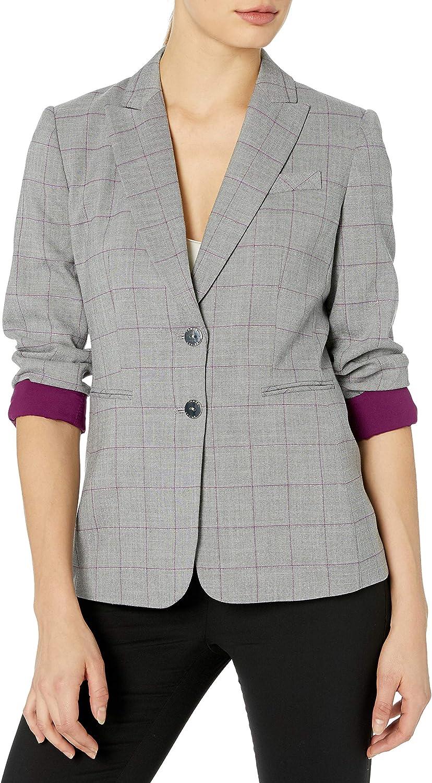 新作 人気 Tahari ASL Women's 激安セール 2 Jacket Sleeve Button Roll
