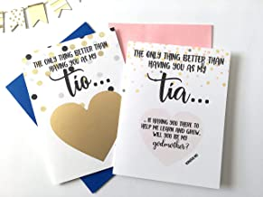 Spanish Will You Be My Godmother and Godfather Scratch Off Card, Set of 2
