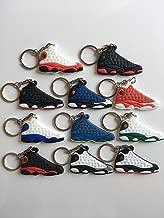 Jordan Retro 13 Sneaker Keychain Pack Chicago Dirty Bred Playoffs Flint Bin 23 Hyper Royal Squadron Blue Ray Allen Bred Barons Hologram He Got Game Shoes Keyring AJ 23 OG