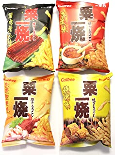 Calbee Grill-A-Corn Super Package (4 Packs-Hot Spicy, Eel Kabayaki, Lobster in Supreme Soup, BBQ Flavors)