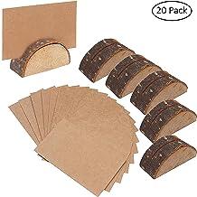 LAKIOMZ Lot de 24 Porte-Cartes en Forme de c/œur en Acier Inoxydable pour Cartes Notes st/ér/éo