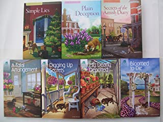 Victorian Mansion Flower Shop & Amish Inn Mysteries Series (Set of 7) Fatal Arrangement Bloomed to Die My Dearly Depotted Digging Up Secrets Simple Lies Plain Deception Secrets of Amish Diary