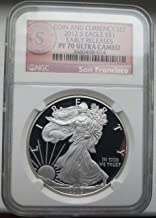 2012 S AMERICAN SILVER EAGLE COIN AND CURRENCY SET $1 PF70 NGC UCAM