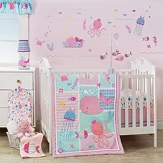 Bedtime Originals Sugar Reef 6-Piece Crib Bedding Set - Blue, Pink, Aquatic