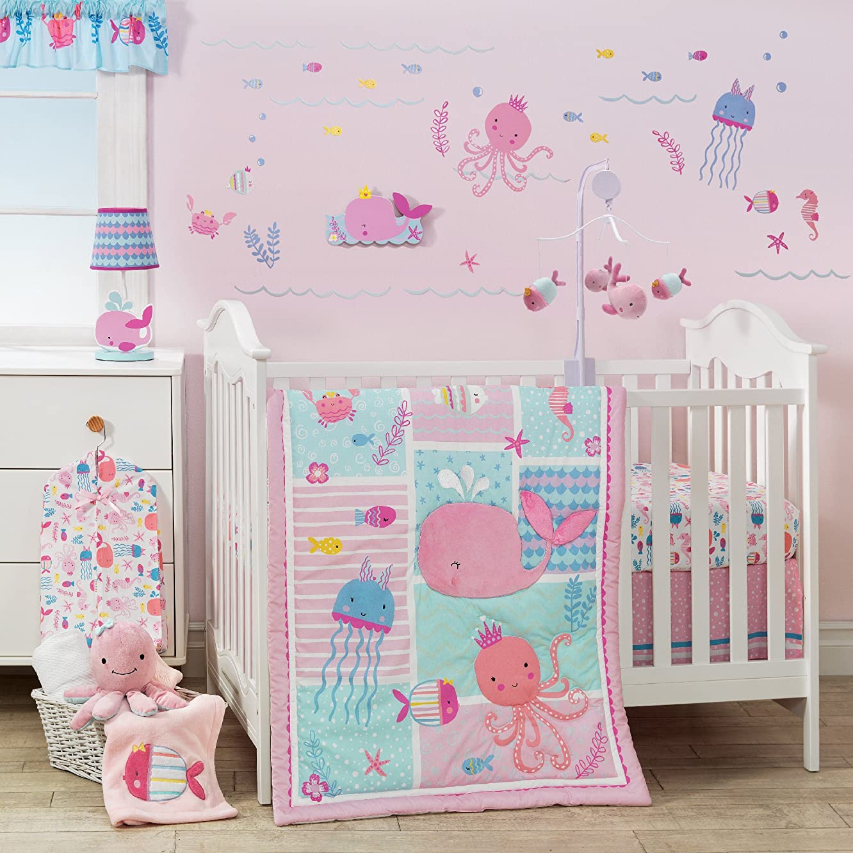 Bedtime Originals Sugar Reef Aquatic 3 Bedding Set, Pink/Blue