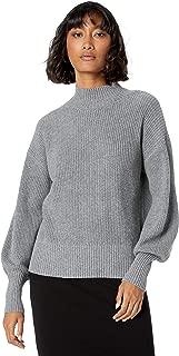 The Drop Women's Gwen Long Sleeve Mock Neck Ribbed Sweater