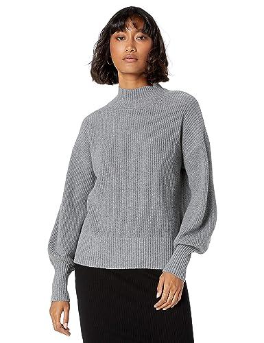 The Drop Gwen gerippter Pullover mit Stehkragen und langen Ärmeln