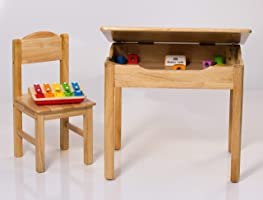 Modern Kraftz Single Seater Solidwood Kids Study Table with Lift Up Top Storage