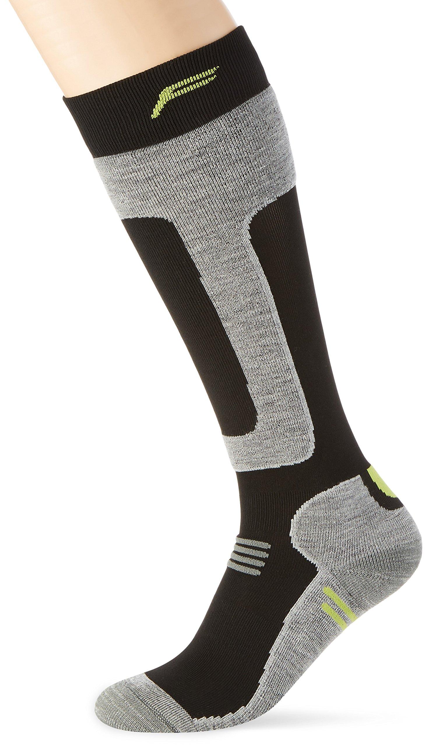 F Lite Herren SKI SN 300 Socken, Black/Green, 47-49