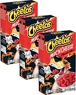 Cheetos Mac'n Cheese Flamin Hot flavor (5.9 Oz box) Pack of 3