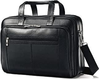 Samsonite Leather Checkpoint Friendly Case, Black