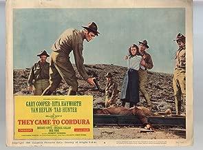 MOVIE POSTER: They Came To Cordura-Gary Cooper-Rita Hayworth-Van Heflin-11x14-Color-Lobby Card
